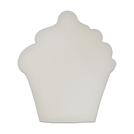 "10.5"" x 12"" Specialty Shape Aluminum Sign Blank - Cupcake"
