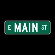 """6"""" Flat Aluminum Street Name Sign"""