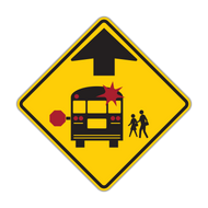 "12"" S3-1 School Bus Stop Ahead"