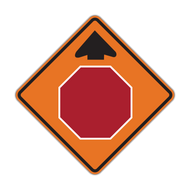 W3-1 Stop Ahead (Construction)