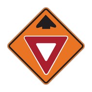 W3-2 Yield Ahead (Construction)
