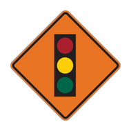 W3-3 Signal Ahead (Construction)