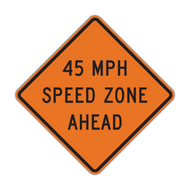W3-5a XX MPH Speed Zone Ahead (Construction)