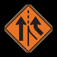 W4-3 Added Lane (Construction)