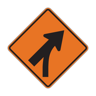 W4-5 Entering Roadway Merge (Construction)