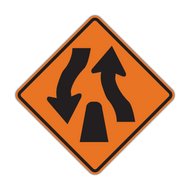 W6-2 Divided Highway Ends (Construction)