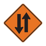 W6-3 Two-Way Traffic (Construction)