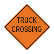 W8-6 Truck Crossing (Construction)