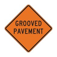 W8-15 Grooved Pavement (Construction)