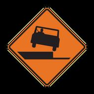 W8-17 Shoulder Drop-off (Construction)