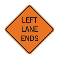 W9-1 Lane Ends (Construction)