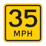 W13-1P Advisory Speed