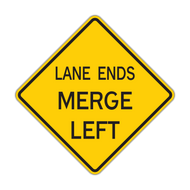W9-2 Lane Ends Merge