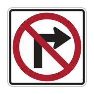 R3-1 No Right Turn