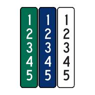 "6"" x 30"" Reflective 911 Address Sign (5 Digits)"