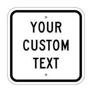 "12"" Square Custom Sign"