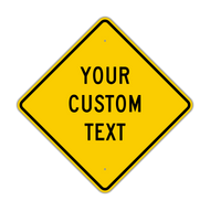 "24"" Diamond Custom Sign"