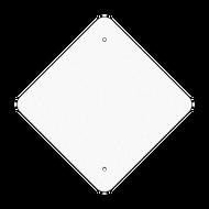"12"" Diamond Reflective Sign Blank"
