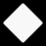 "30"" Diamond Reflective Sign Blank"
