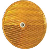 "3 1/4"" Aluminum Delineator Button - Amber"