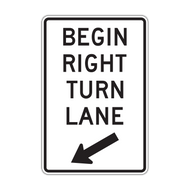 R3-20 Begin Left (Right) Turn Lane