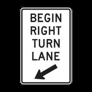 R3-20 Begin Left (Right) Turn Lane