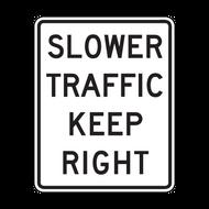R4-3 Slower Traffic Keep Right