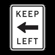 R4-8a Keep Left (horizontal arrow)