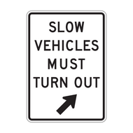 R4-14 Slow Vehicles Must Turn Out