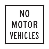 R5-3 No Motor Vehicles