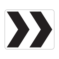 R6-4 Roundabout Directional (2 chevrons)