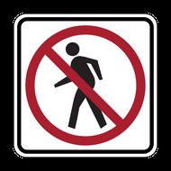 R9-3 No Pedestrian Crossing