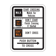 R10-3c Push Button to Cross