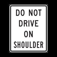 R4-17 Do Not Drive on Shoulder