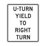 R10-16 U Turn Yield to Right Turn