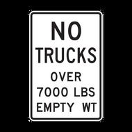 R12-3 No Trucks Over XXXX LBS Empty
