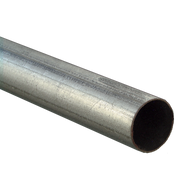 "10' x 2 3/8"" OD Galvanized Steel Round Posts"