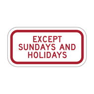 HR7-3P Except Sundays and Holidays