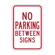 HR7-12 No Parking Between Signs