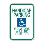 HR7-16 Handicapped Parking Violators Will Be Ticketed