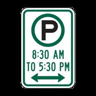 R7-23 Parking Permitted X:XX AM to X:XX PM
