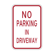 HR7-118 No Parking in Driveway