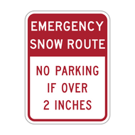 R7-203 Emergency Snow Route