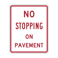 R8-5 No Stopping on Pavement