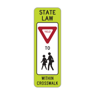R1-6b In-Street Schoolchildren Crossing