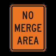 W4-5P No Merge Area (Construction)