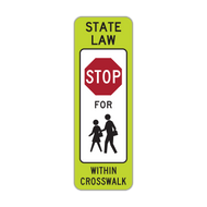 R1-6c In-Street Schoolchildren Crossing