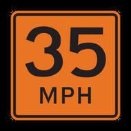 W13-1P Advisory Speed (Construction)