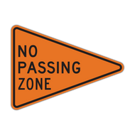W14-3 No Passing Zone (Construction)