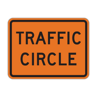 W16-12P Traffic Circle (Construction)